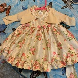 Marmellata baby girls two piece dress 0/3 months